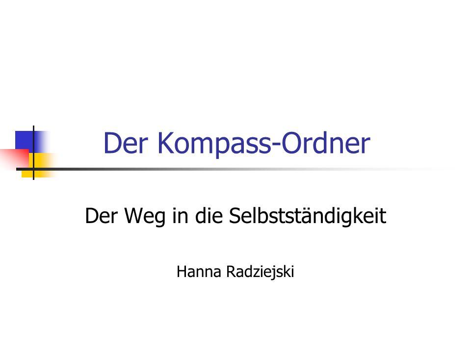 Der Weg in die Selbstständigkeit Hanna Radziejski