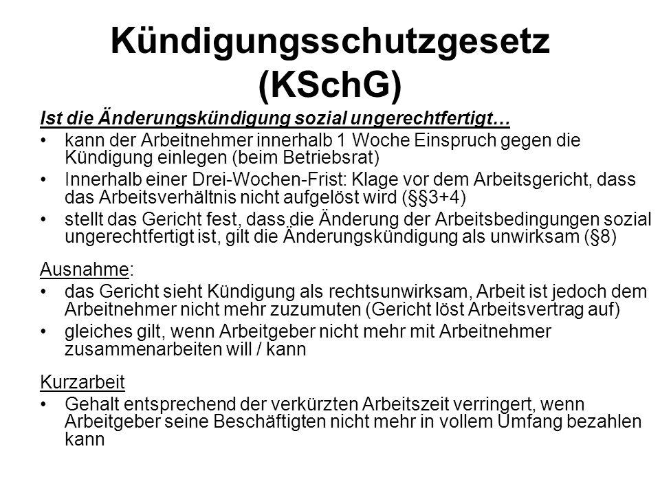 Kündigungsschutzgesetz (KSchG)