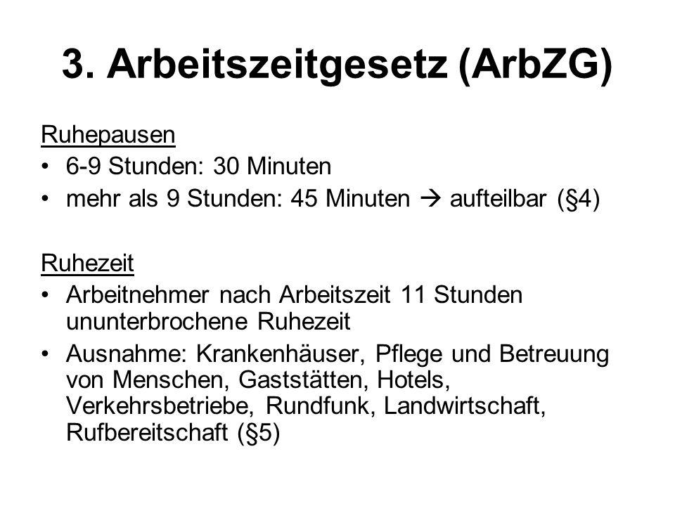 3. Arbeitszeitgesetz (ArbZG)