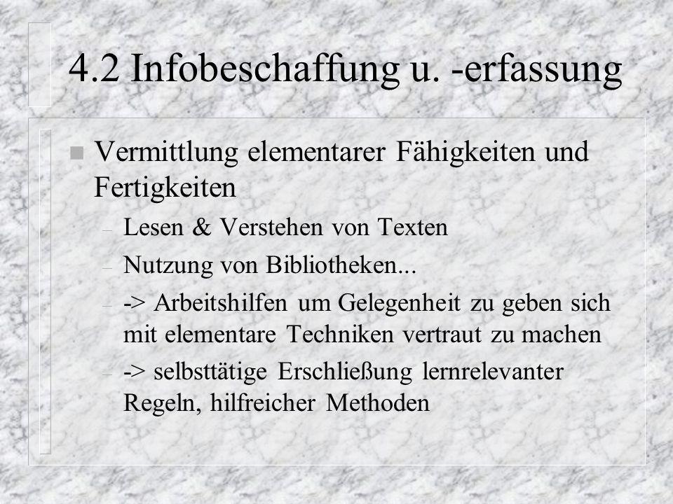 4.2 Infobeschaffung u. -erfassung