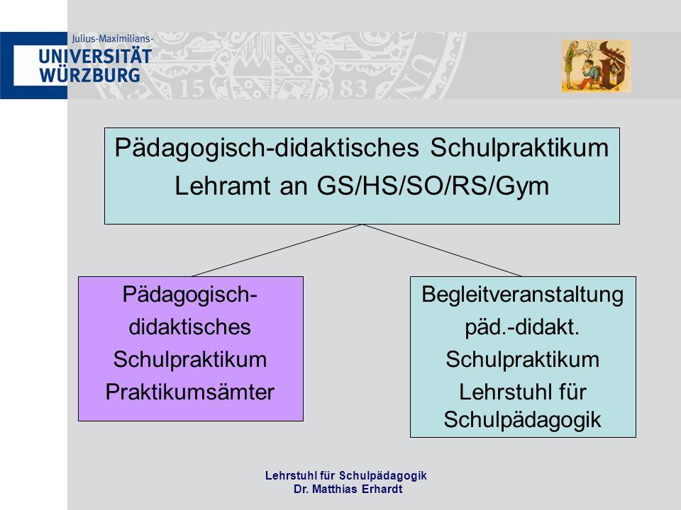 Lehrstuhl für Schulpädagogik