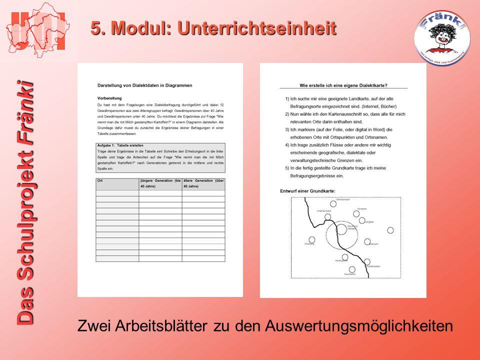 5. Modul: Unterrichtseinheit