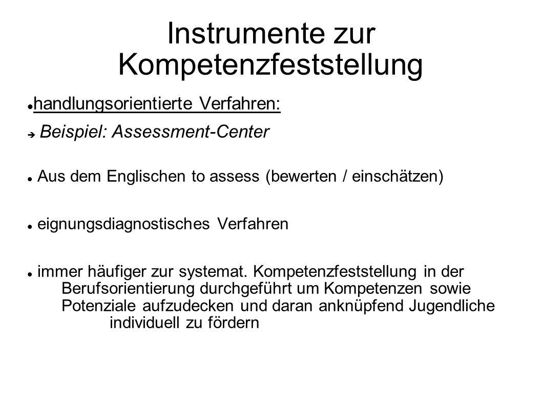 Instrumente zur Kompetenzfeststellung