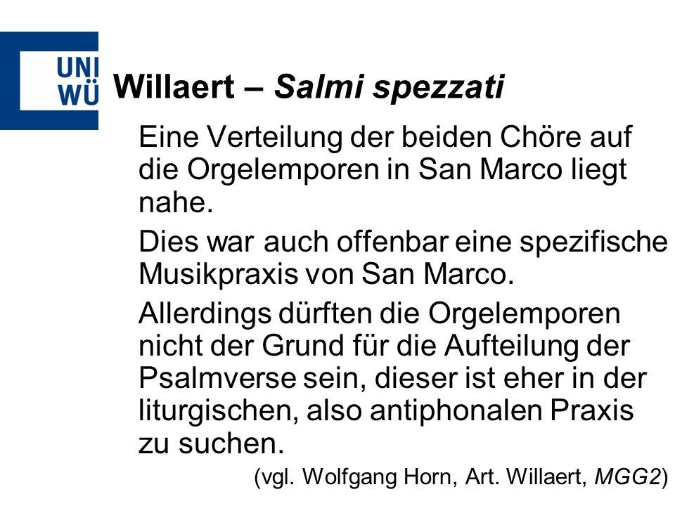 Willaert – Salmi spezzati