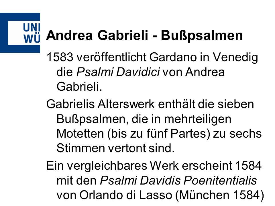 Andrea Gabrieli - Bußpsalmen