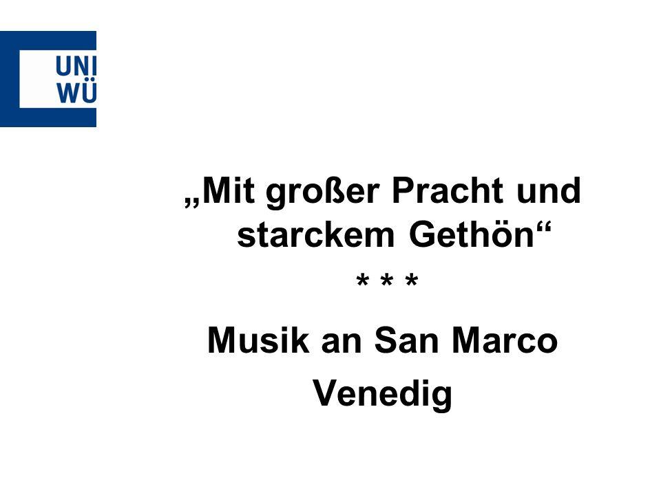 """""""Mit großer Pracht und starckem Gethön"""