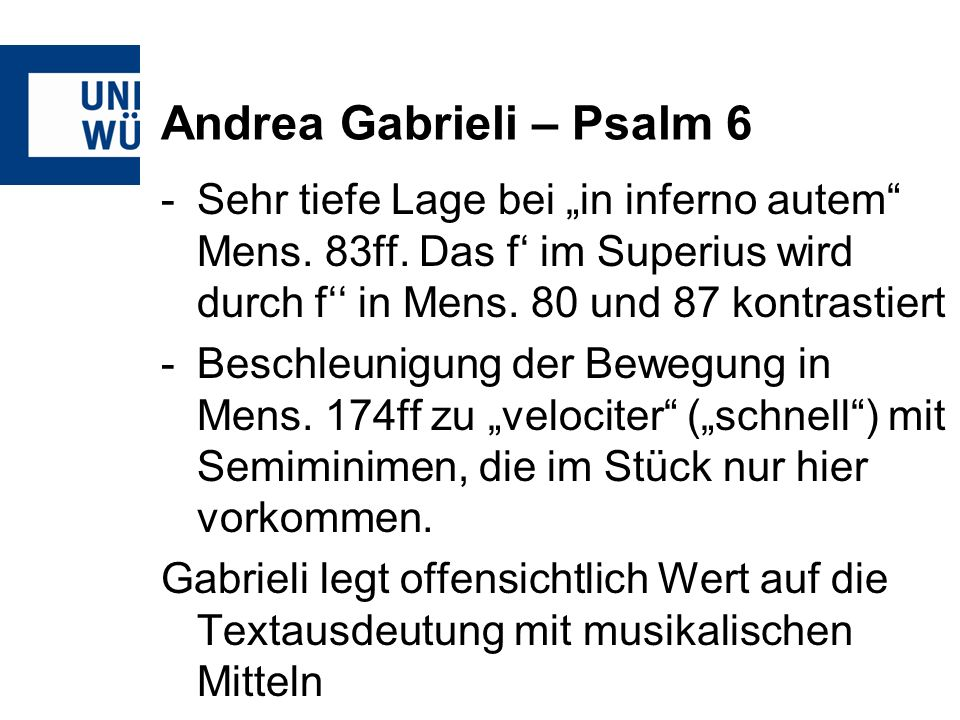 Andrea Gabrieli – Psalm 6