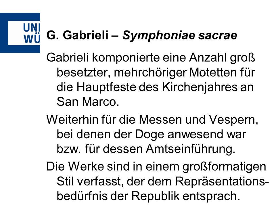 G. Gabrieli – Symphoniae sacrae