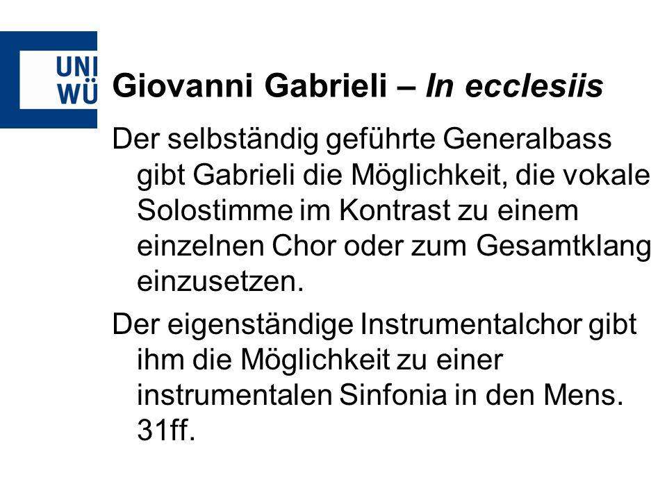 Giovanni Gabrieli – In ecclesiis