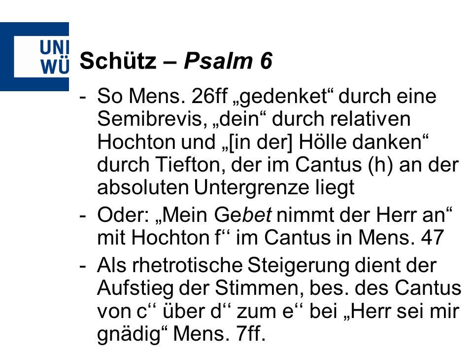 Schütz – Psalm 6