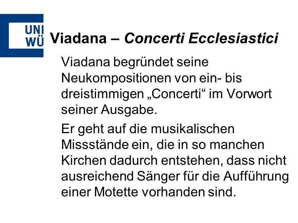 Viadana – Concerti Ecclesiastici