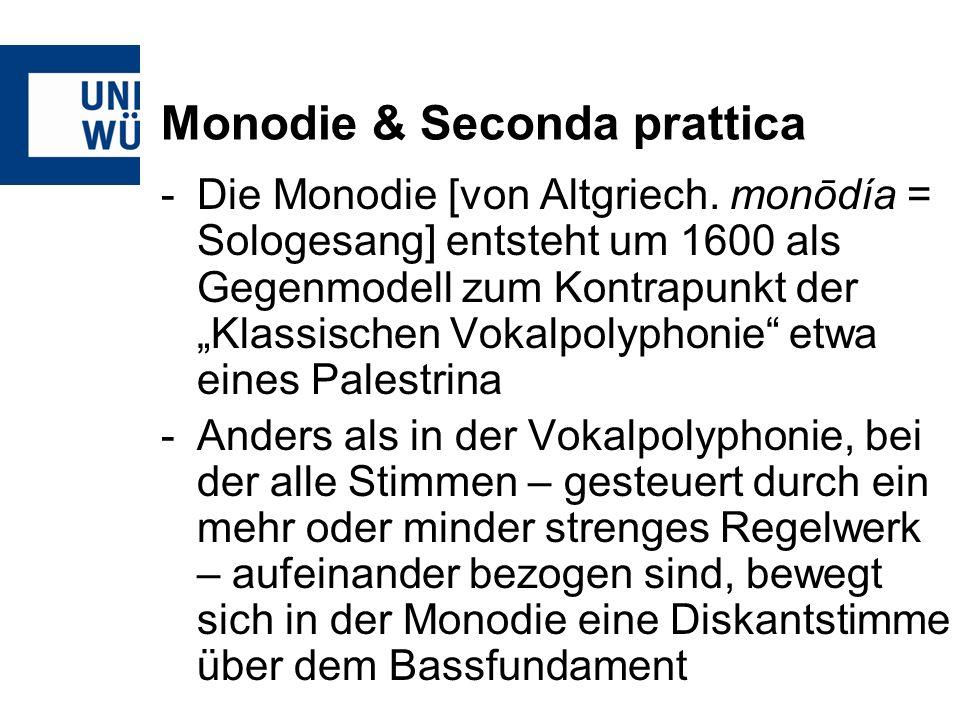 Monodie & Seconda prattica