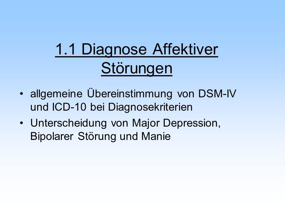 1.1 Diagnose Affektiver Störungen
