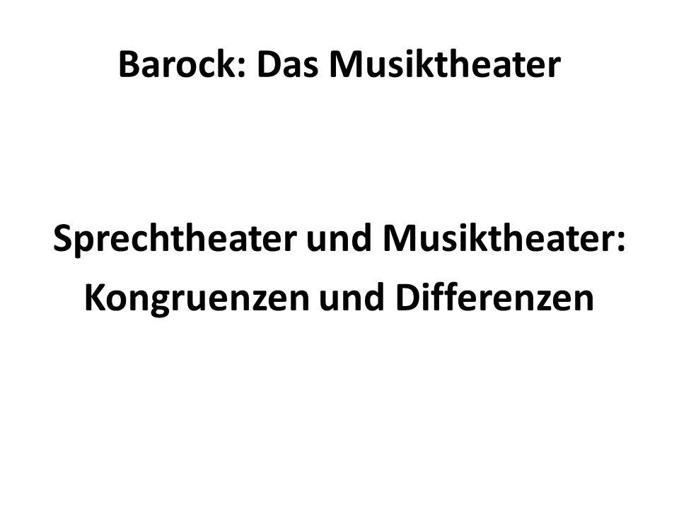 Barock: Das Musiktheater