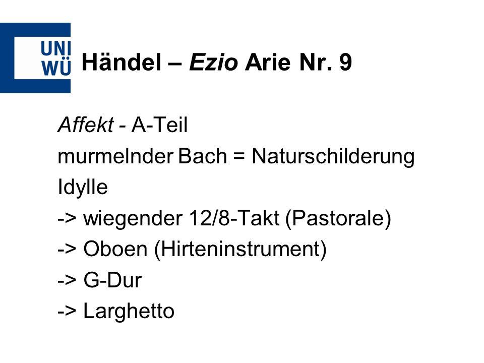 Händel – Ezio Arie Nr. 9 Affekt - A-Teil