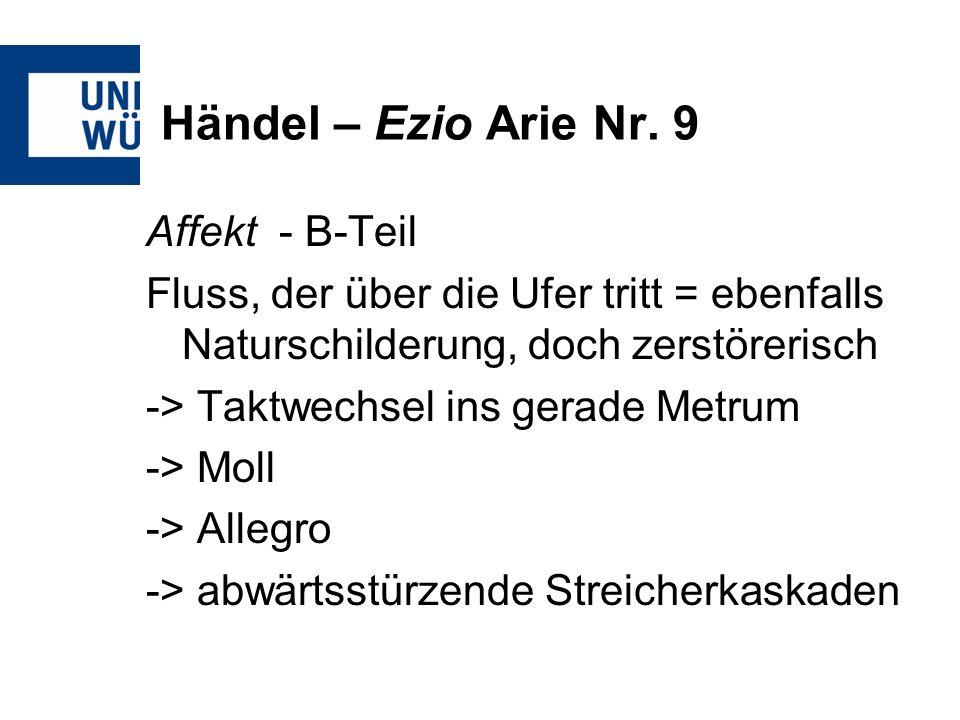 Händel – Ezio Arie Nr. 9 Affekt - B-Teil
