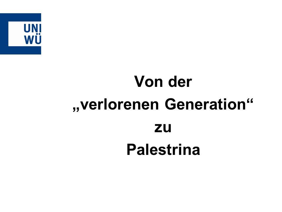 """verlorenen Generation"