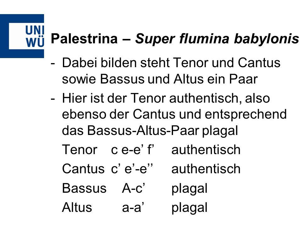 Palestrina – Super flumina babylonis