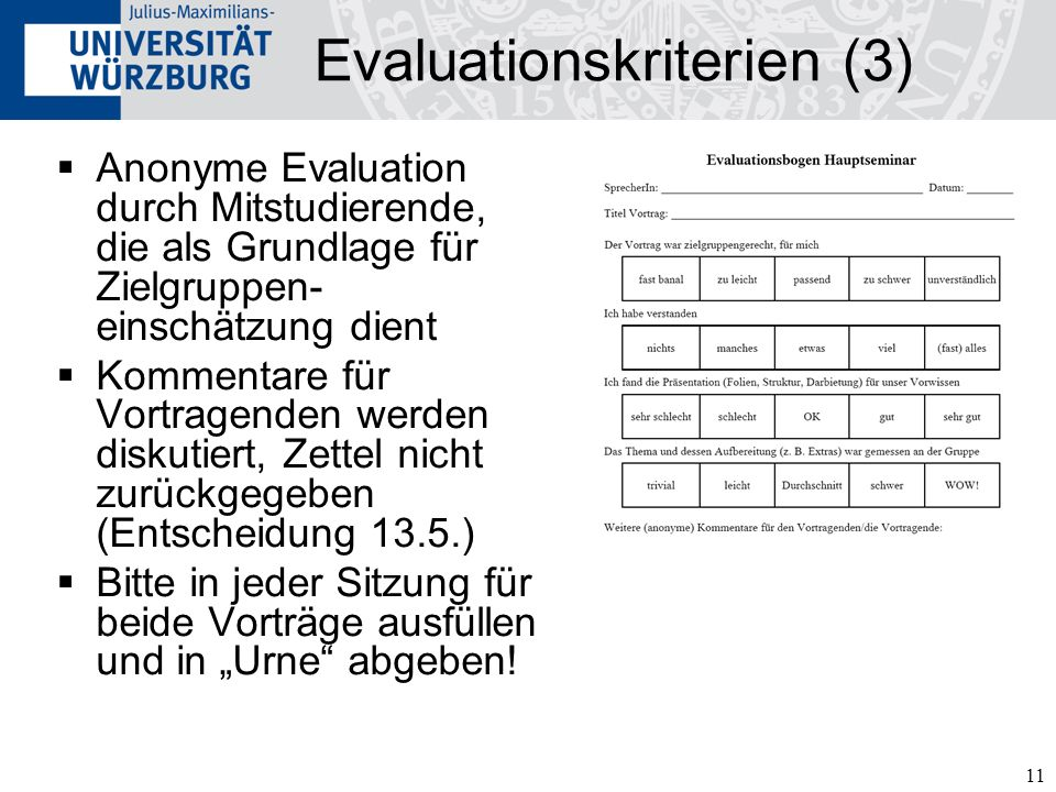 Evaluationskriterien (3)