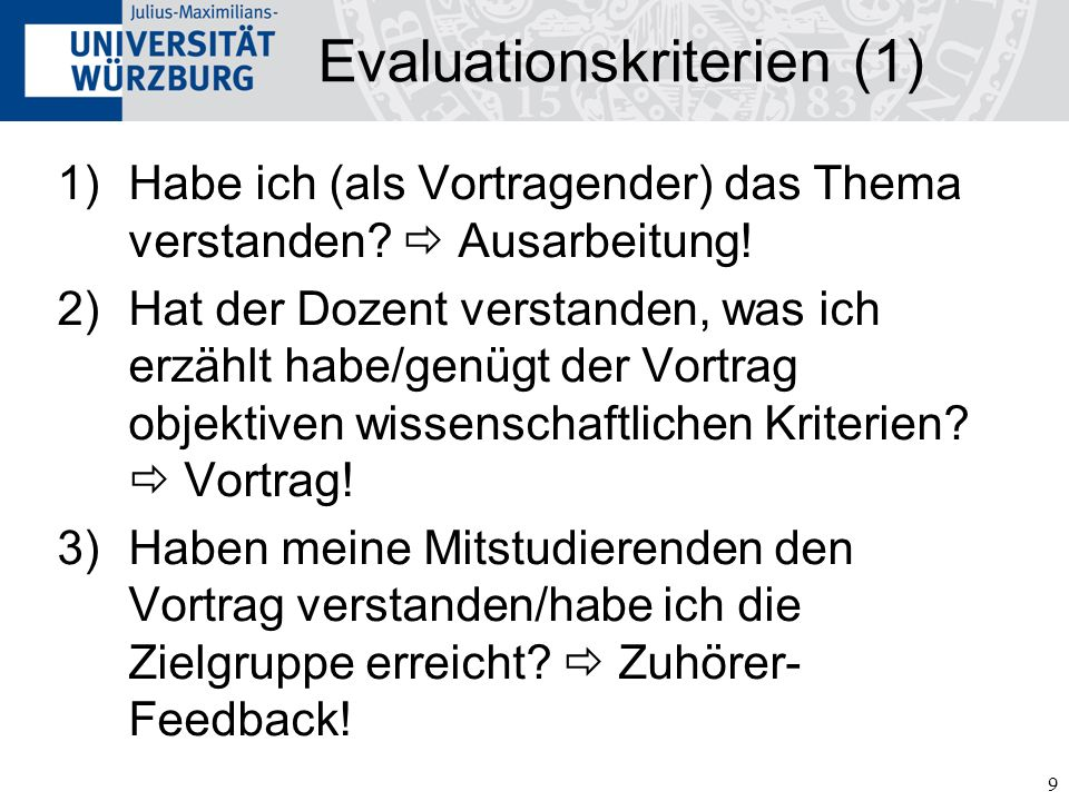 Evaluationskriterien (1)