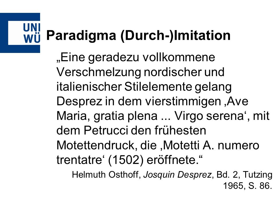 Paradigma (Durch-)Imitation