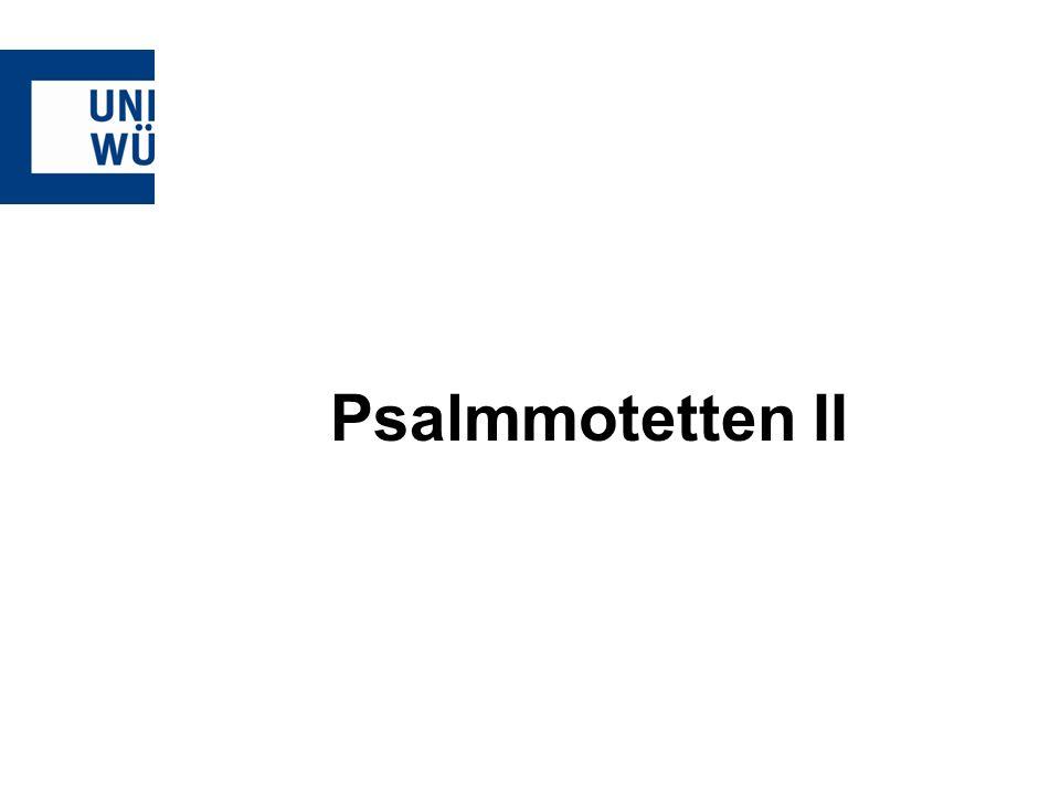 Psalmmotetten II