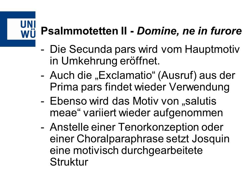 Psalmmotetten II - Domine, ne in furore