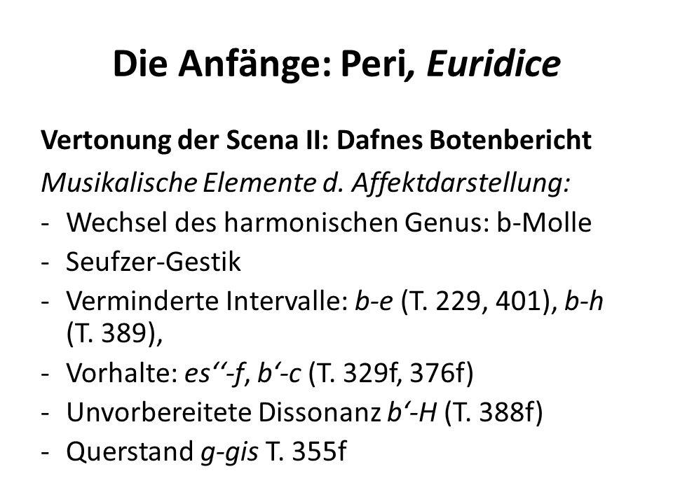 Die Anfänge: Peri, Euridice