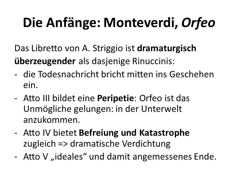 Die Anfänge: Monteverdi, Orfeo