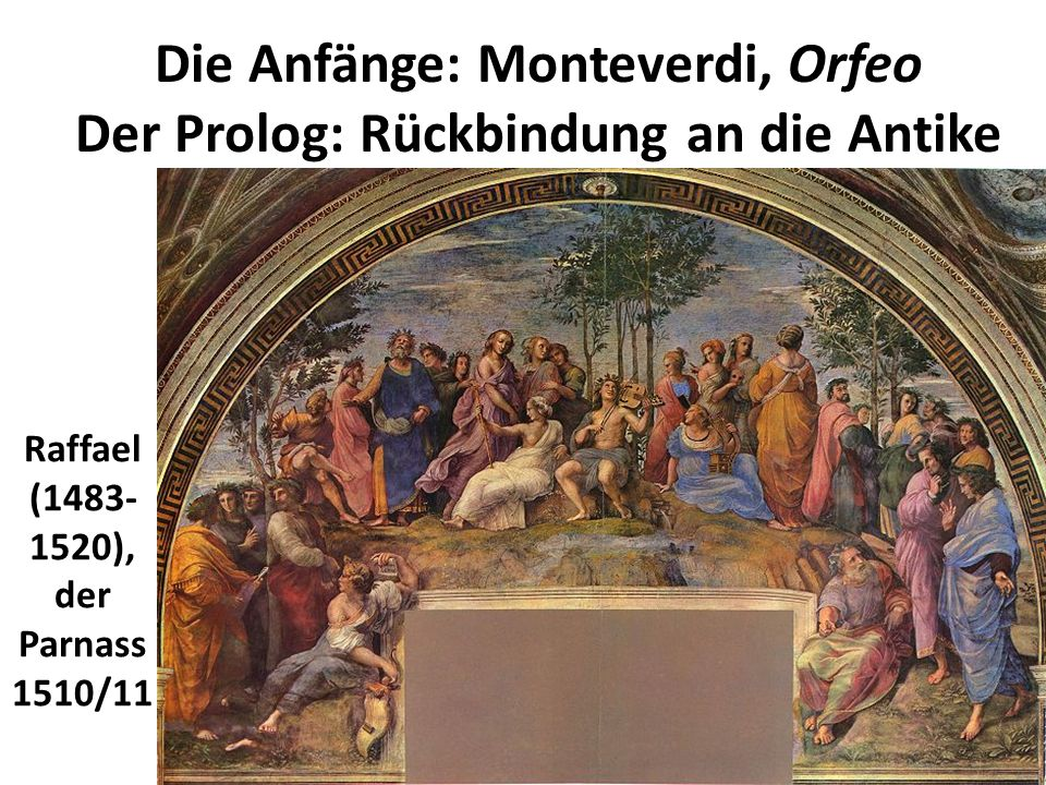 Die Anfänge: Monteverdi, Orfeo Der Prolog: Rückbindung an die Antike