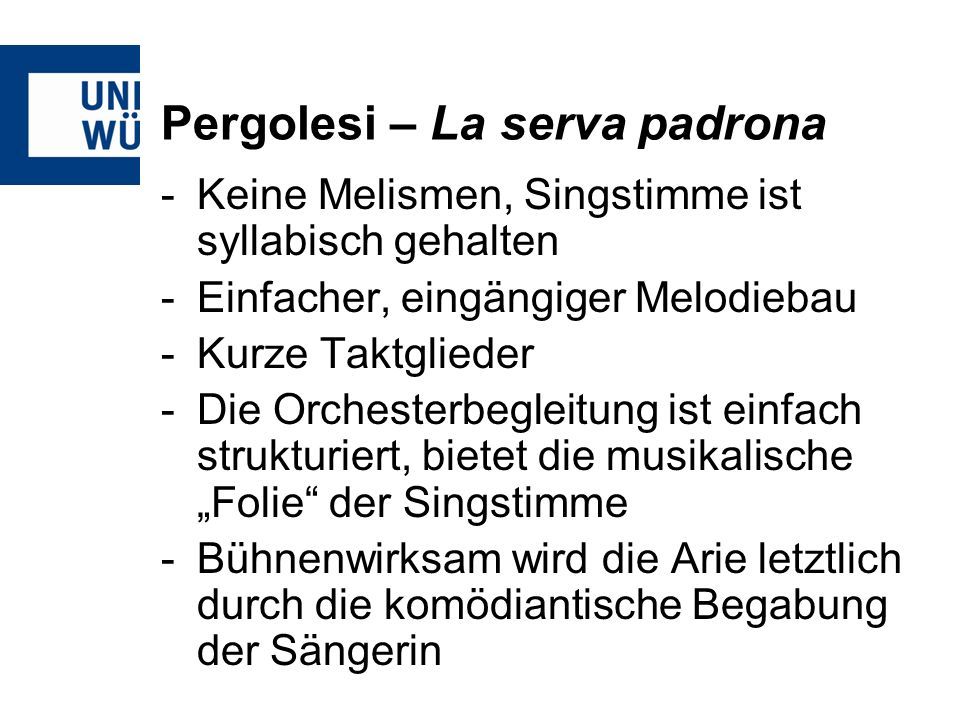 Pergolesi – La serva padrona