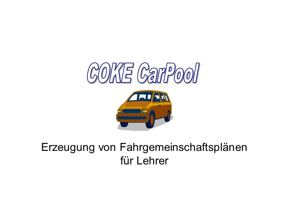 Erzeugung von Fahrgemeinschaftsplänen für Lehrer