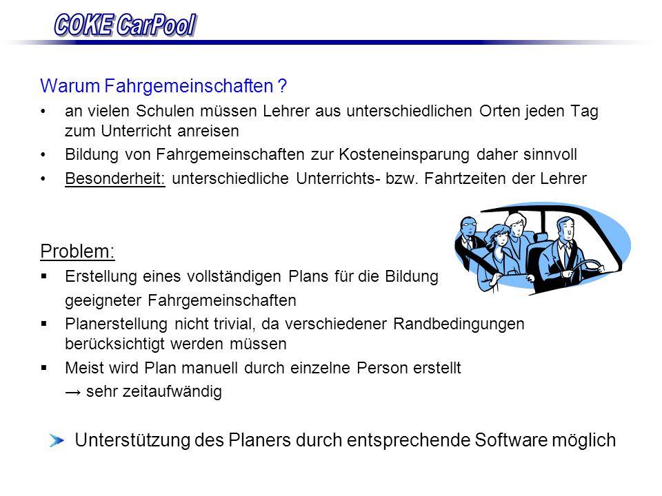Unterstützung des Planers durch entsprechende Software möglich