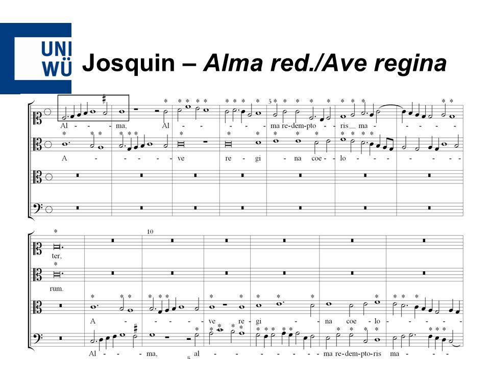 Josquin – Alma red./Ave regina