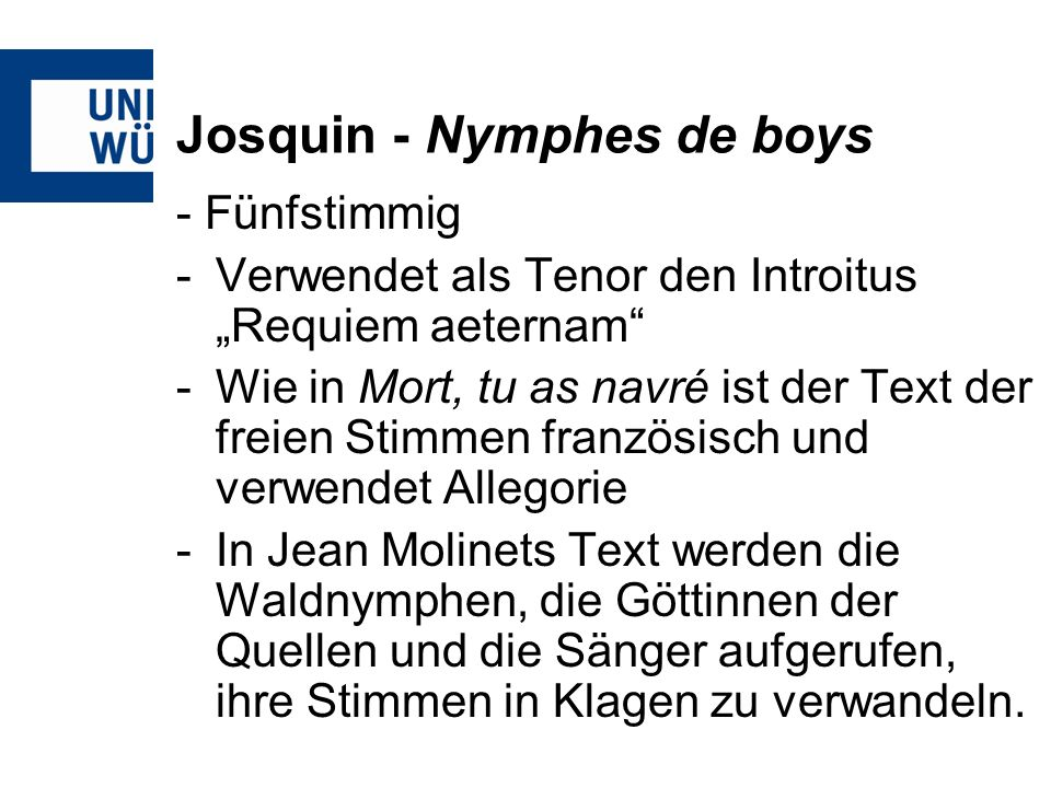 Josquin - Nymphes de boys