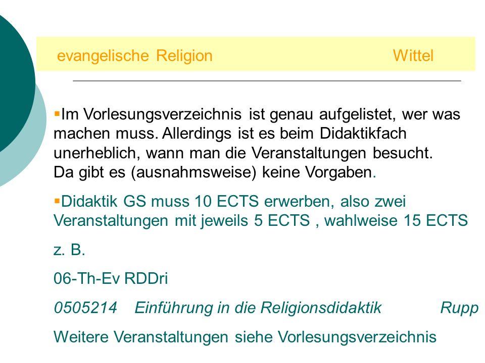 evangelische Religion Wittel