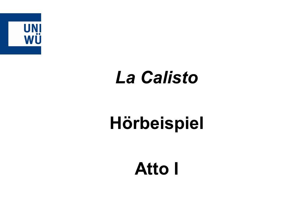 La Calisto Hörbeispiel Atto I
