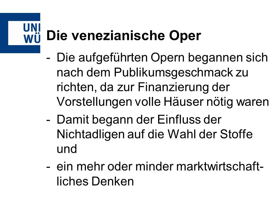 Die venezianische Oper