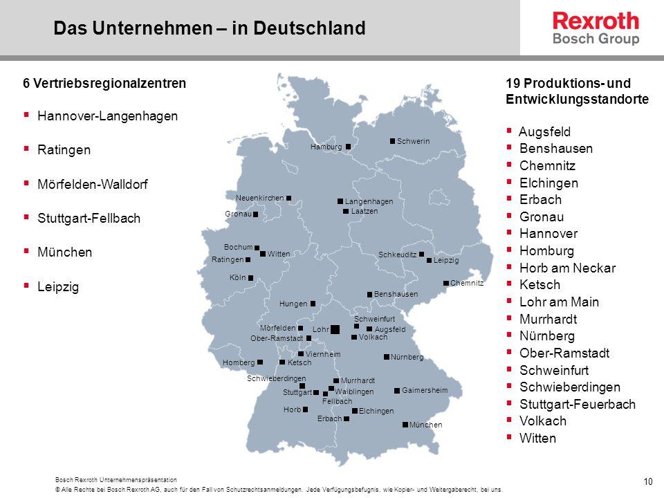 Das Unternehmen – in Deutschland