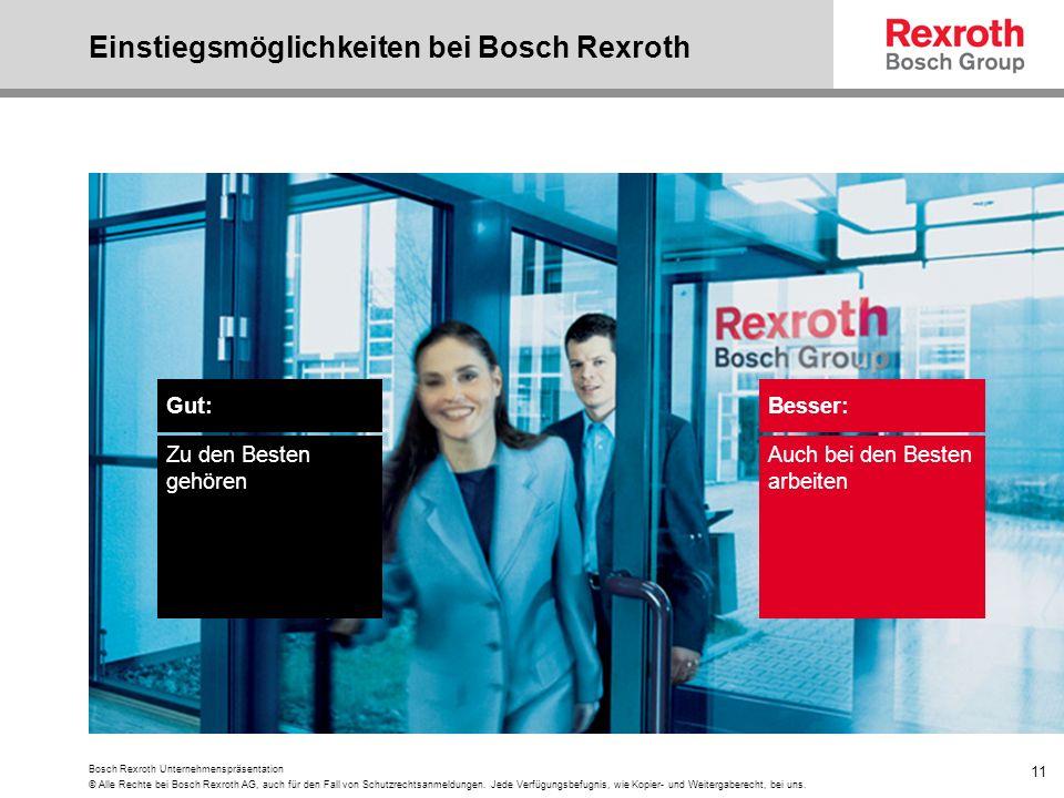 Einstiegsmöglichkeiten bei Bosch Rexroth