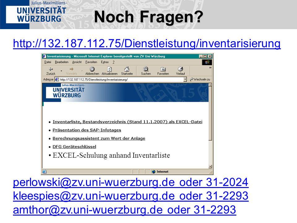 Noch Fragen http://132.187.112.75/Dienstleistung/inventarisierung