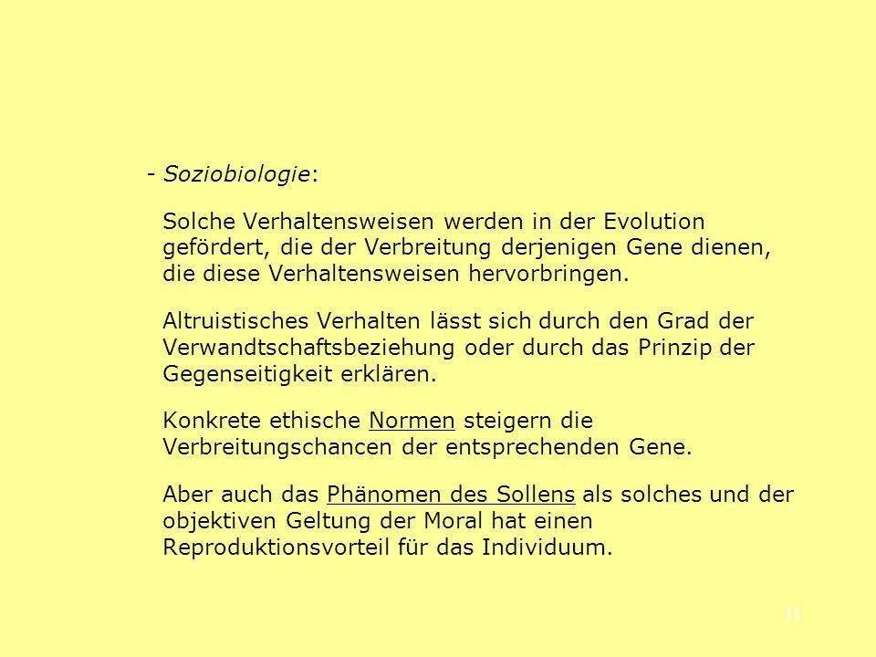 - Soziobiologie: