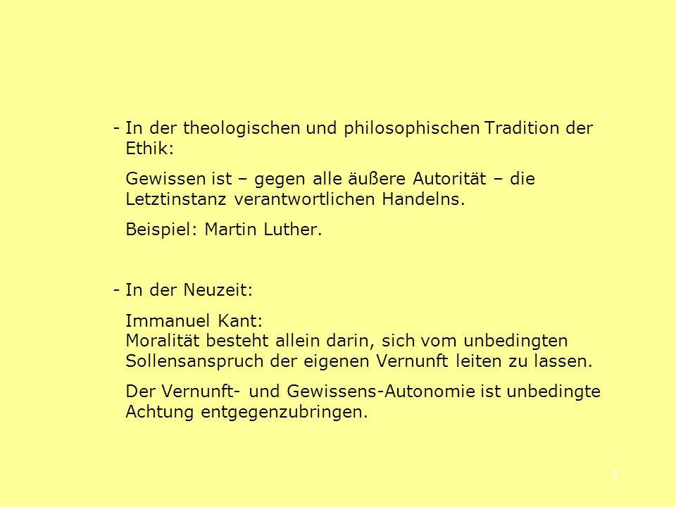 - In der theologischen und philosophischen Tradition der Ethik: