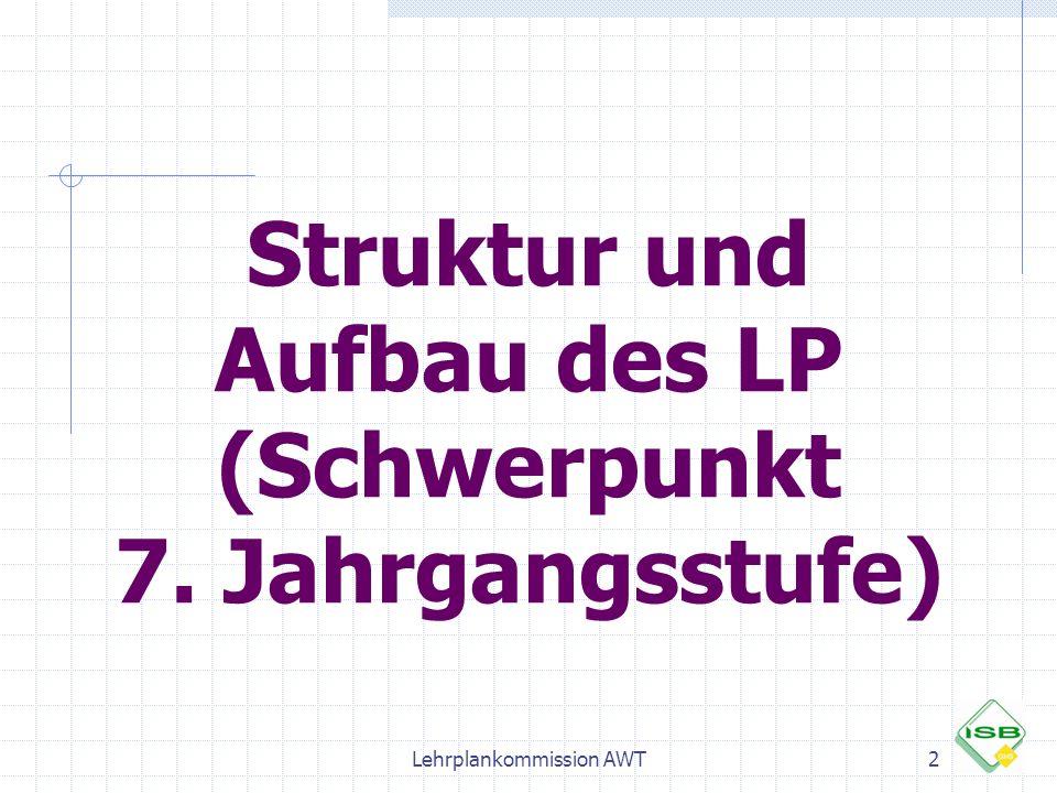 Struktur und Aufbau des LP (Schwerpunkt 7. Jahrgangsstufe)