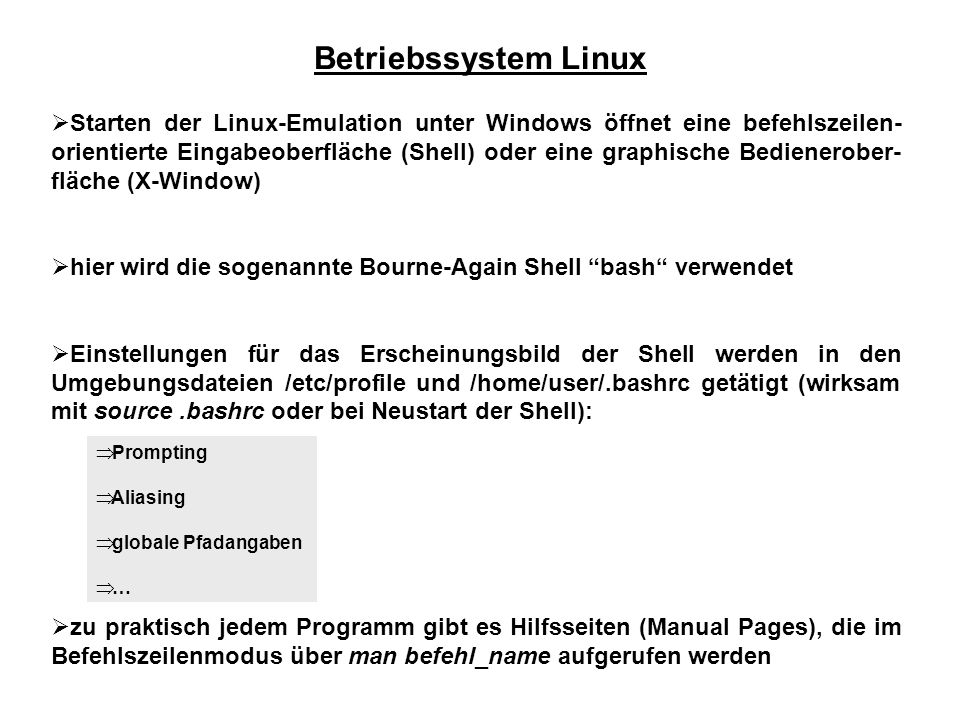 Betriebssystem Linux