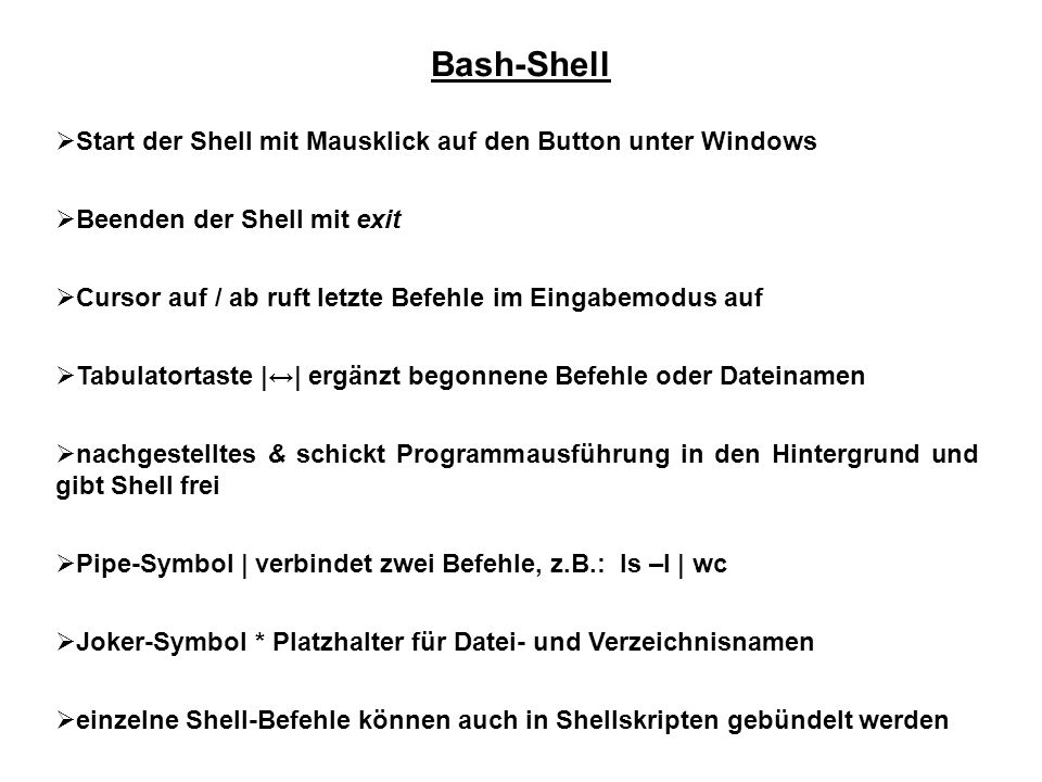 Bash-Shell Start der Shell mit Mausklick auf den Button unter Windows