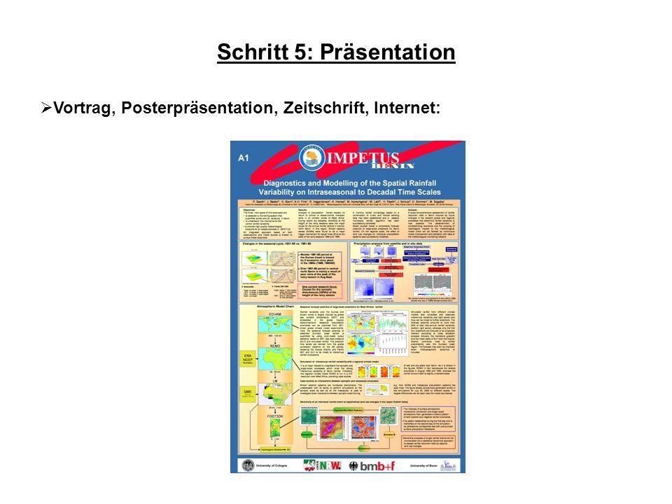 Schritt 5: Präsentation