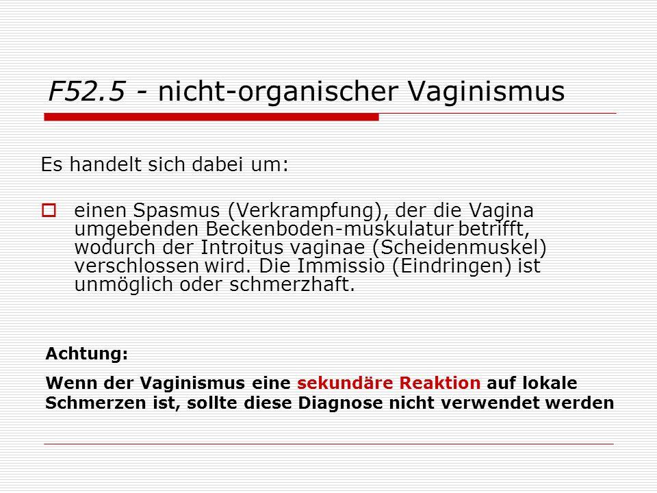 F52.5 - nicht-organischer Vaginismus
