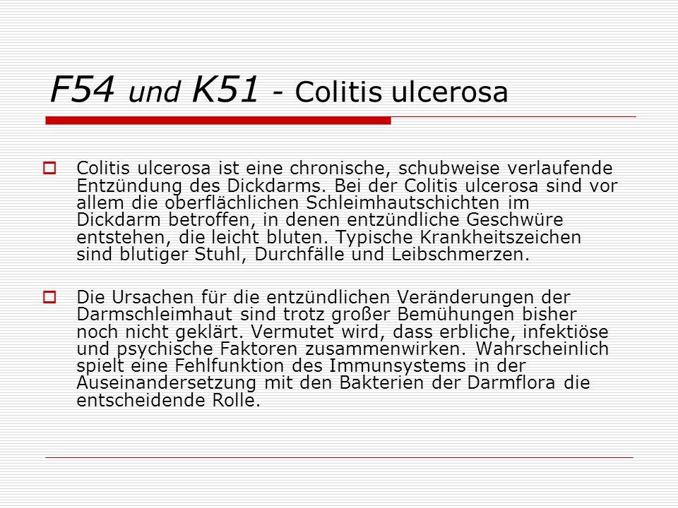 F54 und K51 - Colitis ulcerosa