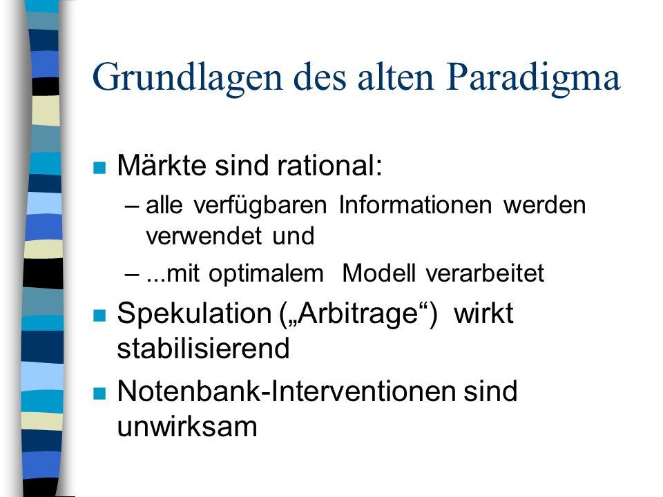 Grundlagen des alten Paradigma